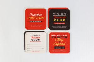 FlipDaddy's coasters