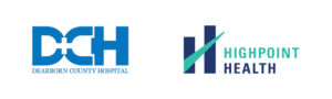 Before and after of Highpoint Health logo